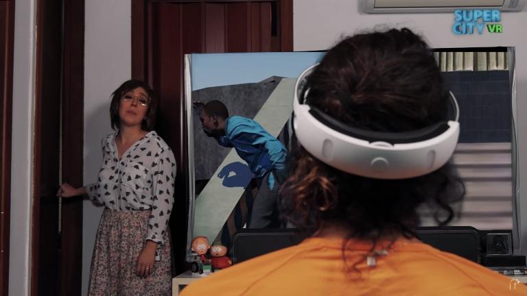 Amada Foca faz humor com PlaystationVR