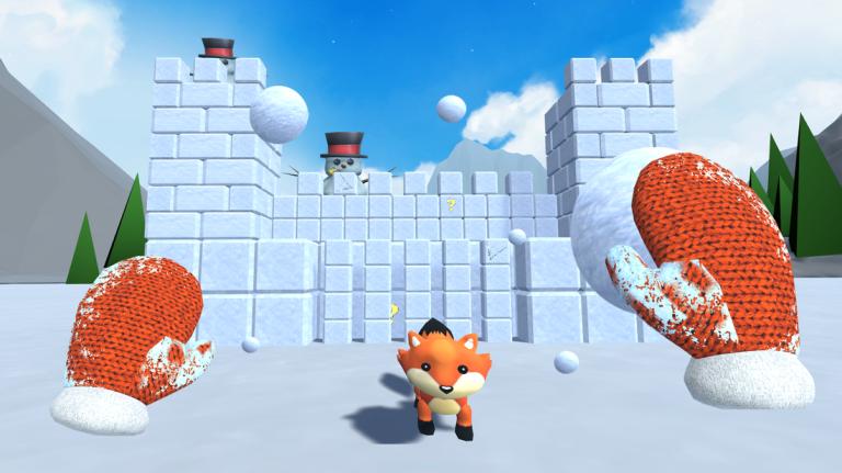 Snow Fortress traz experiência divertida com bolas deneve
